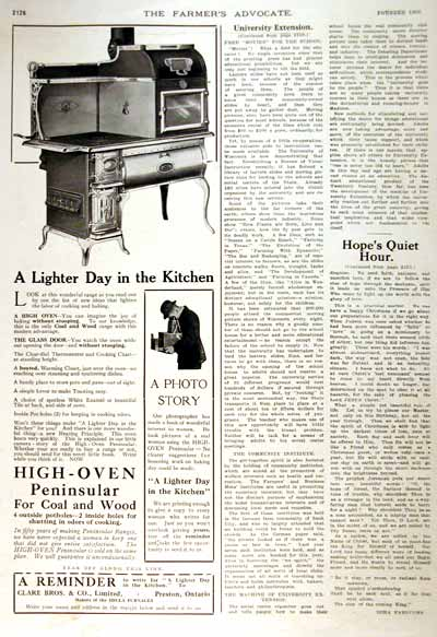 1914 High Oven Stove Vintage Ad #001677