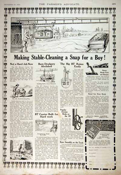 1914 BT Supplies Classic AD #001675