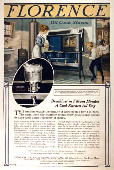 1918 Florence Stove Classic Ad #001968