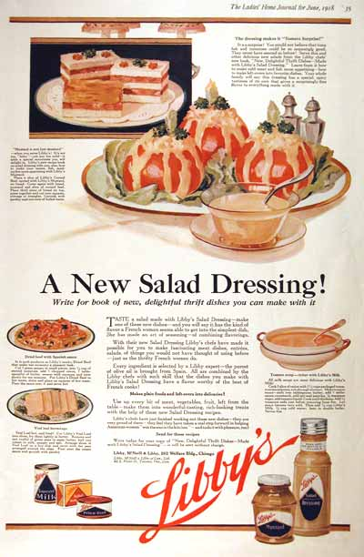 1918 Libby's Salad Dressing #001983