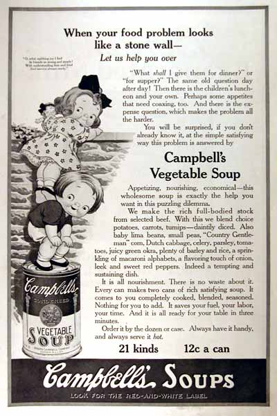 1919 Campbell's Soup Vintage Print Ad #001986