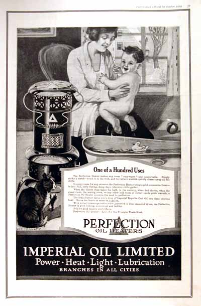 1919 Perfection Oil  Heater Vintage Print Ad #001656