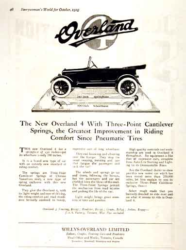 1919 Willys Overland Vintage Print Ad #001652