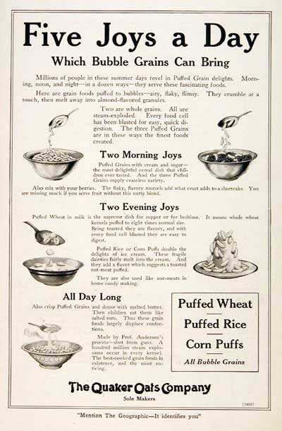 1920 Quaker Oats Cereal #003115