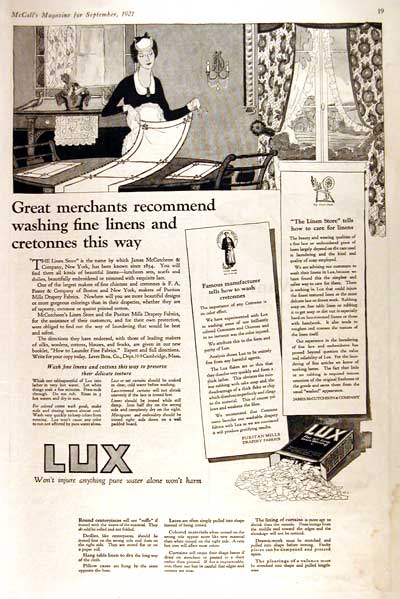 1921 Lux Soap #002807