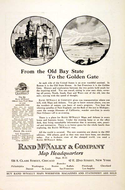 1922 Rand McNally Maps #003121