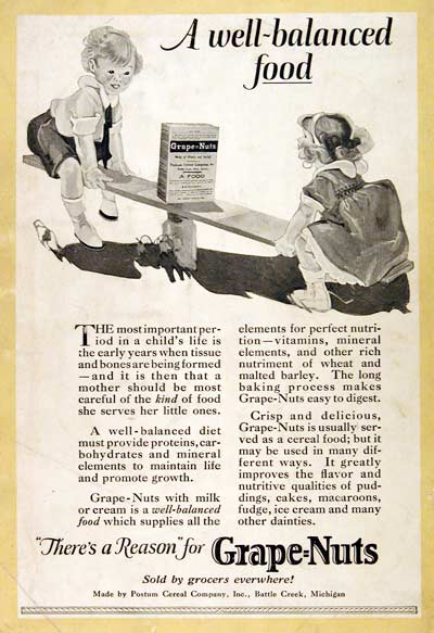 1923 Grape Nuts Cereal #003154