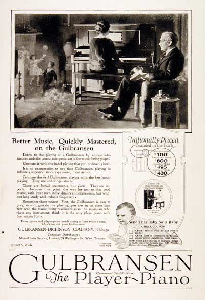 1923 Gulbransen Player Piano #003148
