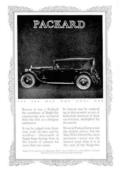 1923 Packard Sport Model Classic Ad #000114