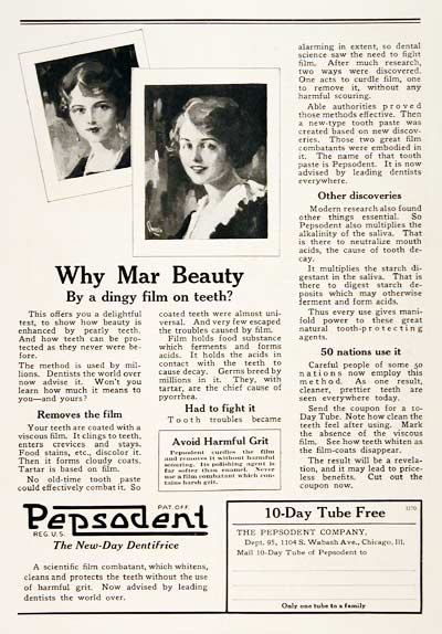 1923 Pepsodent Toothpaste #003150