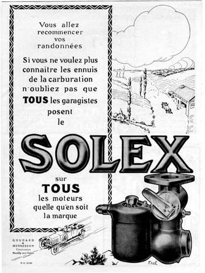 1924 Solex Carburaters Classic Ad #000140