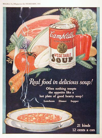 1925 Campbell's Soup Vintage Print Ad #2