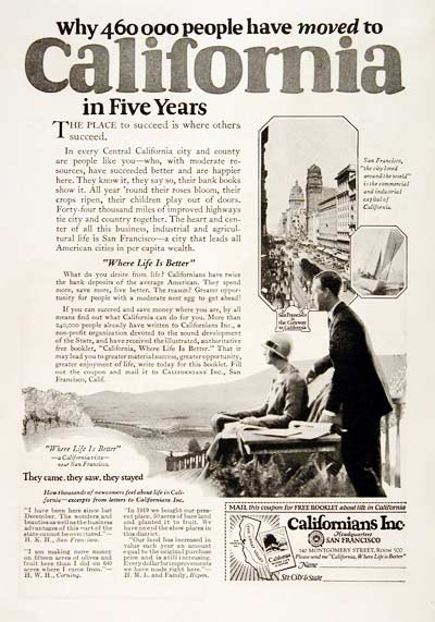 1925 Move to California #003217
