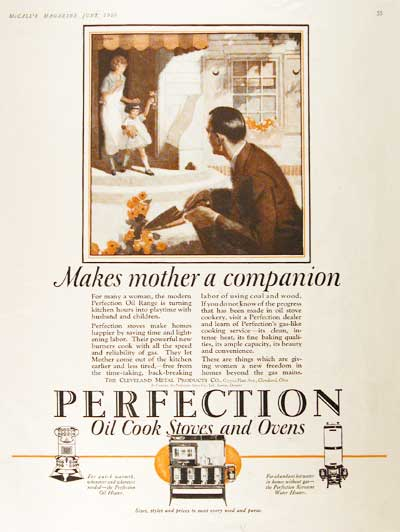 1925 Perfection Stoves Vintage Print Ad