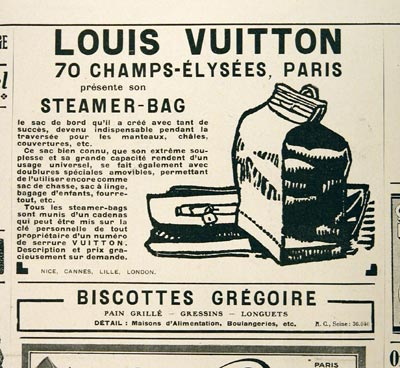 1925 Louis Vuitton Vintage French Ad #001464