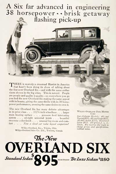 1925 Willys Overland Six #003199