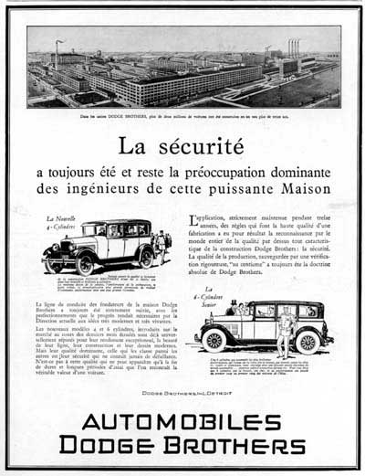 1928 Dodge Brothers Sedan Vintage French Ad #000236