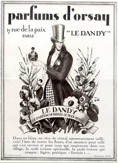 1928 D'Orsay Le Dandy Vintage French Ad #000234