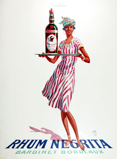 1928 Negrita Rum Vintage French Ad #025224