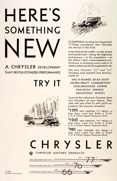 1929 Chrysler Line #003261