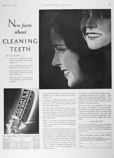1929 Colgate Dental Cream Vintage Ad #001998