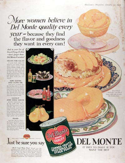 1929 Del Monte Canned Fruit #007939