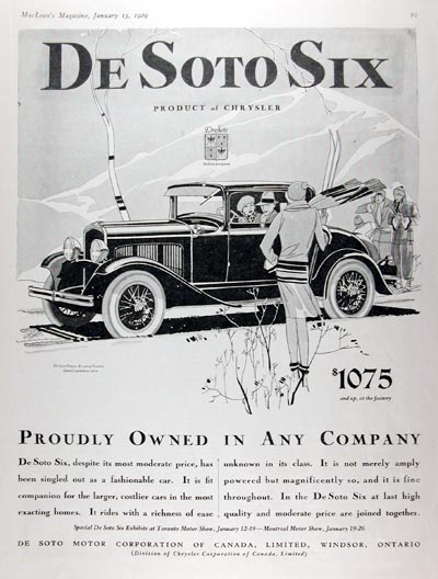 1929 DeSoto Deluxe Coupe #007930