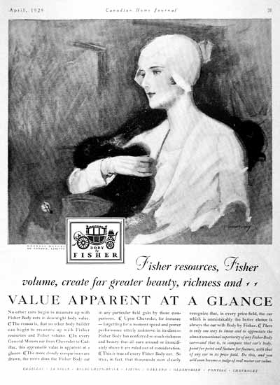 1929 Fisher Body Vintage Ad #001994