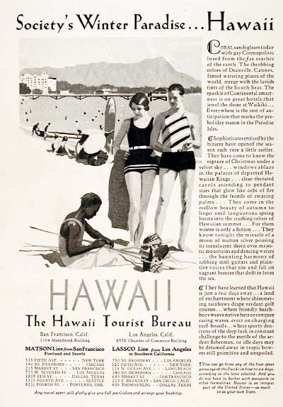 1929 Hawaii Tourism #003288