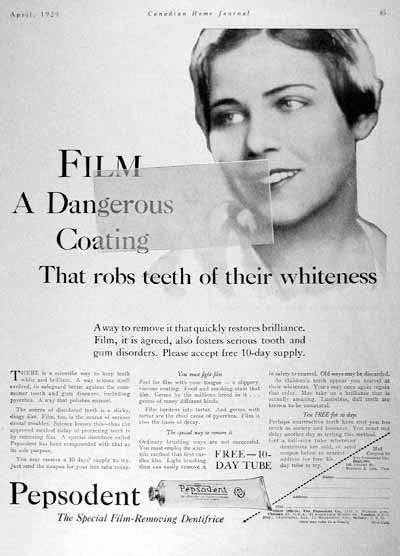 1929 Pepsodent Toothpaste Vintage Ad #002001
