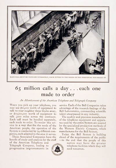 1930 Bell Telephone Switchboard #007742