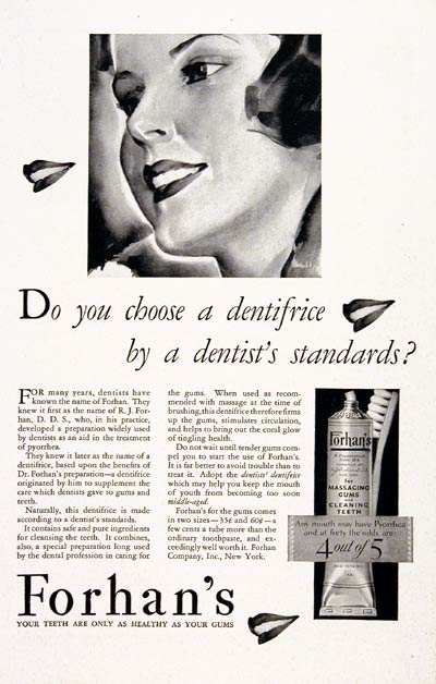 1930 Forhan's Dentrifice #007774