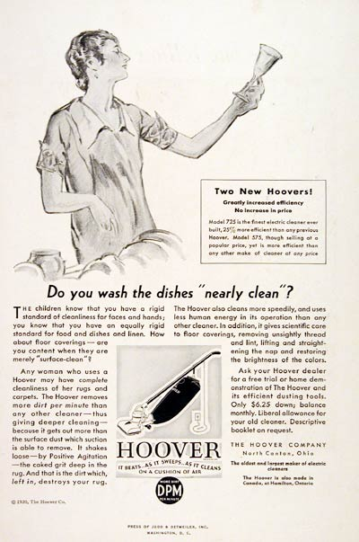 1930 Hoover Vacuum Cleaner #007755