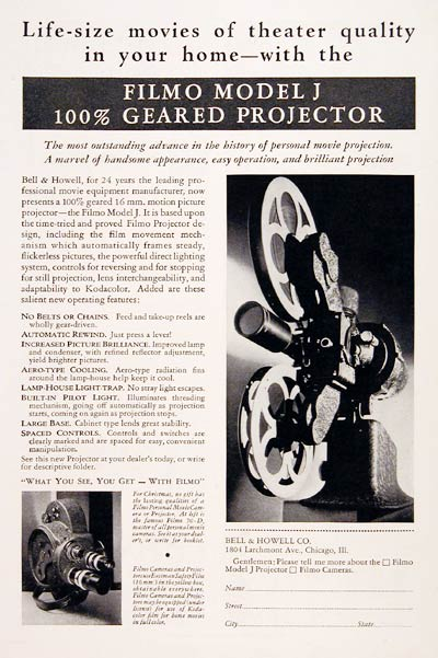 1931 Bell & Howell Filmo Projector #007796