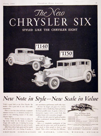 1931 Chrysler Coupe Sedan #008123