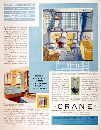 1931 Crane Bathroom Fixtures #008118