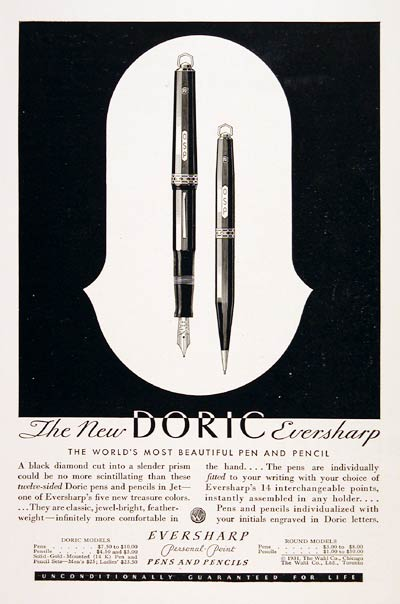 1931 Doric Eversharp Pen Pencil #007799