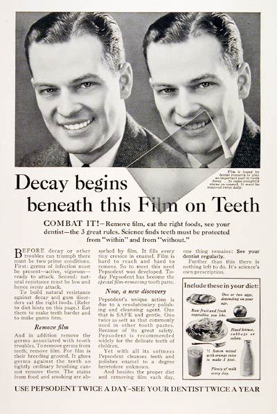 1931 Pepsodent Toothpaste #007806