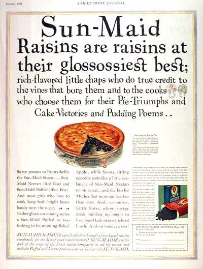 1931 Sun Maid Raisins