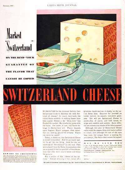 1931 Switzerland Cheese #002349