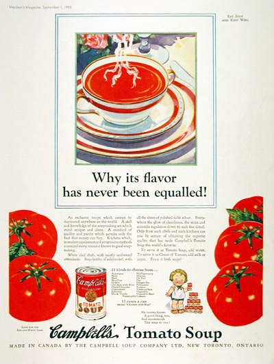 1933 Campbell's Tomato Soup #008075