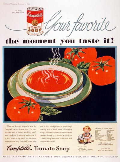 1933 Campbell's Tomato Soup #007913