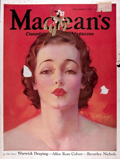 1933 Macleans Cover - Model  #023815