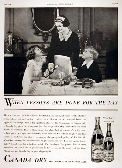 1934 Canada Dry Ginger Ale #007951