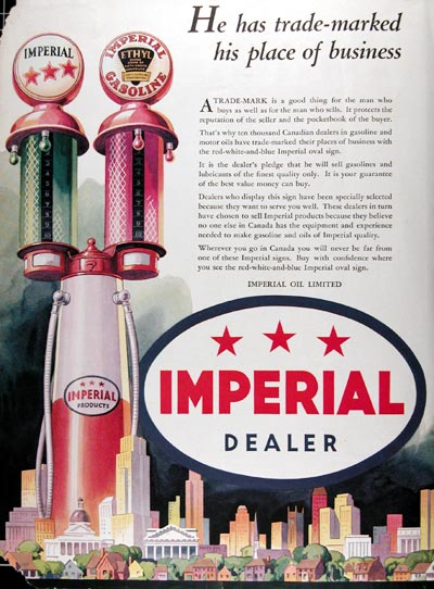 1934 Imperial Oil Dealers #009940