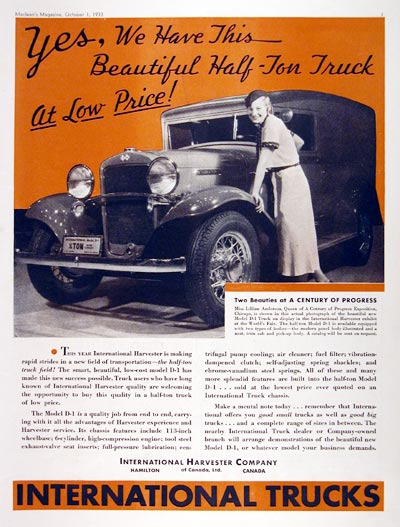 1934 International D-1 Panel Delivery #007945