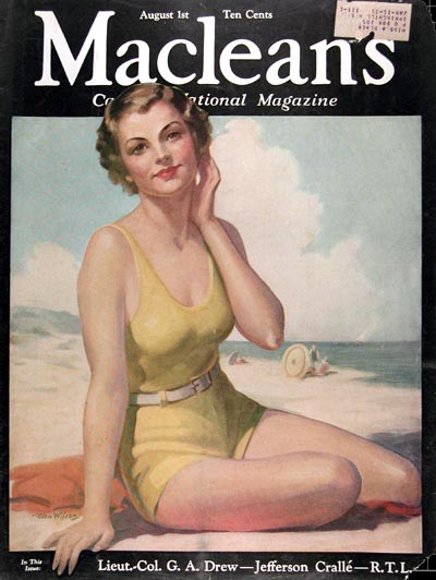 1934 Macleans Cover - Bathing Beauty #009939