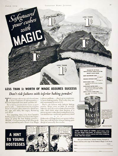 1934 Magic Baking Powder #008003