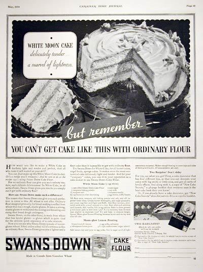 1934 Swans Down Cake Mix #007990