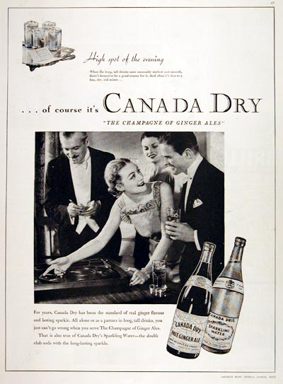 1935 Canada Dry Ginger Ale #007845